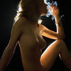 Brigitte lahaie smoking